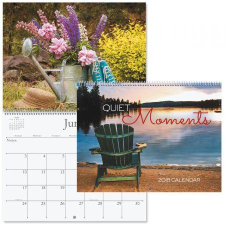 2018 Quiet Moments Wall Calendar