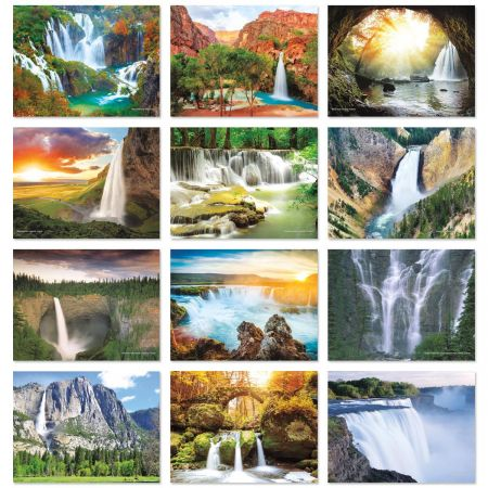 2018 Waterfalls Wall Calendar