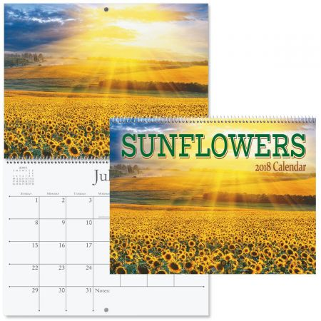 2018 Sunflowers Wall Calendar