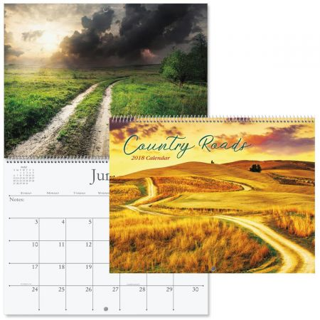2018 Country Roads Wall Calendar
