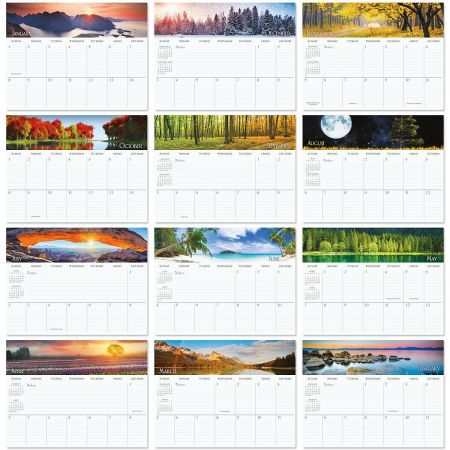 2018 Naturescapes Big Grid Planning Calendar