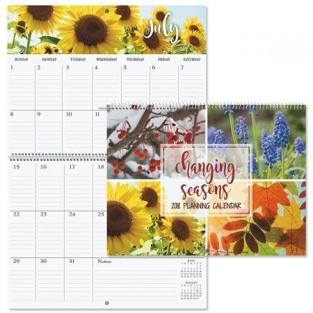 2018 Changing Seasons Big Grid Planning Calendar