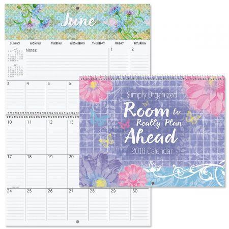2018 Simply Organized Big Grid Planning Calendar