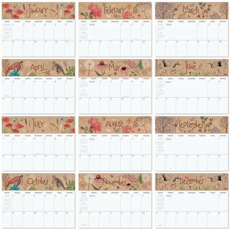 2018 Natural Impressions Big Grid Planning Calendar