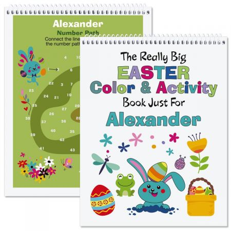 Personalized Easter Activity Book-Girl-615899A