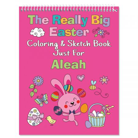 Personalized Easter Coloring Books-Pink-615901A