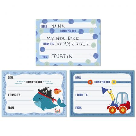 Boys Thank You Cards Value Pack