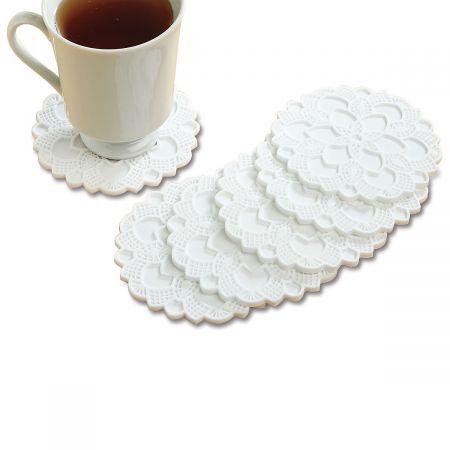 Silicone Lace Doily Coasters