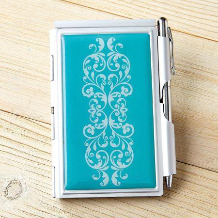 Scroll Pattern Notepad & Pen
