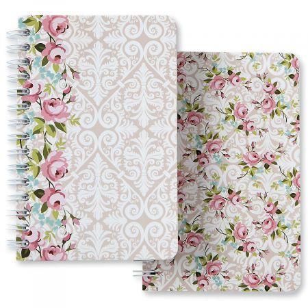 Wallpaper Flowers Spiral Notebook