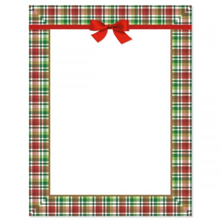 Christmas Plaid Christmas Letter Papers