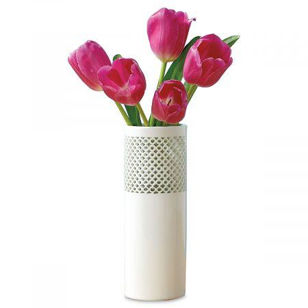 Elegant Cutout Ceramic Vase