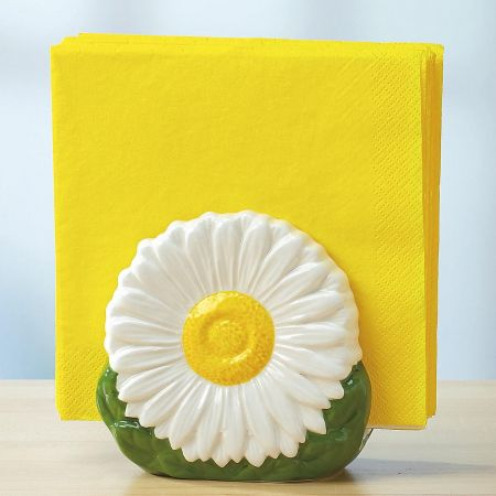 Ceramic Daisy Napkin Holder