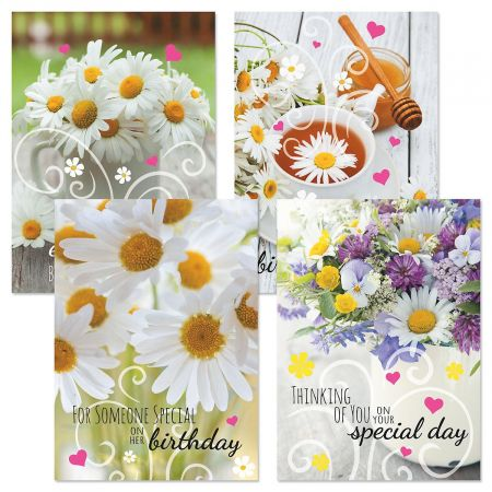 Daisy Birthday Cards and Seals