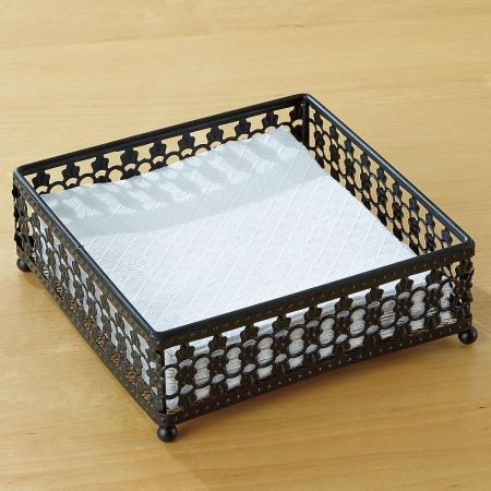 Black Pattern Napkin Holder