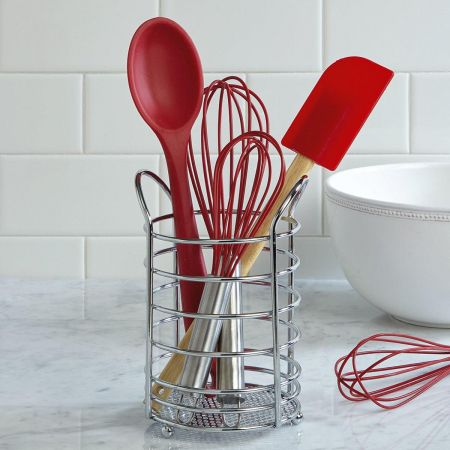Chrome Utensil Holder