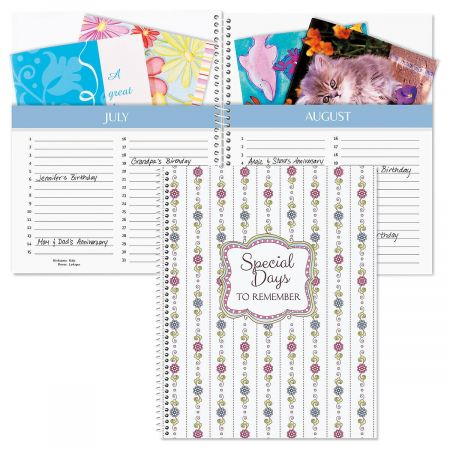 Vintage Wallpaper Card Organizer Book