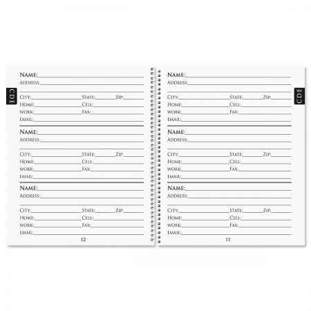 Fresh Patterns Large Print Address Book