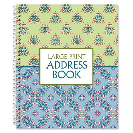 Fresh Patterns Large Print Address Book