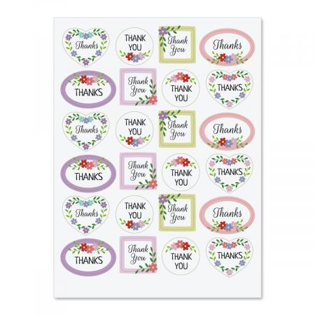Cheerful Thank You Stickers - BOGO