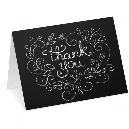 Chalkboard Heart Thank You Note Cards
