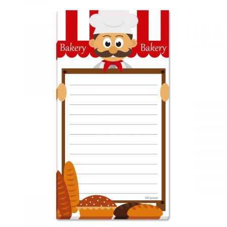 Bakery Lined Shopping List Pads