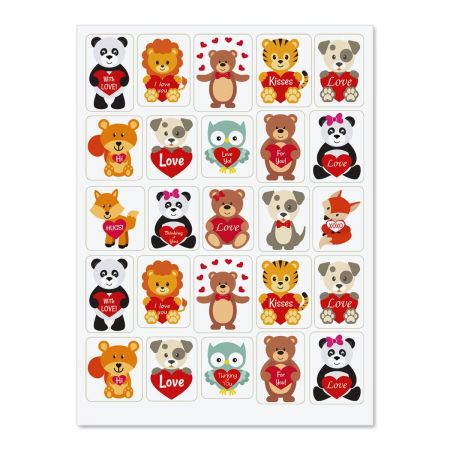 Heartfelt Animals Stickers