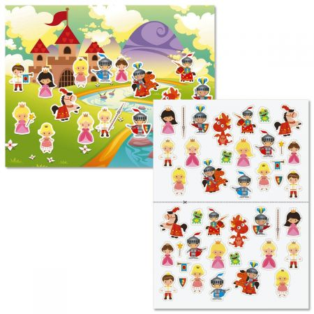 Princesses & Knights Background Scenes and Stickers