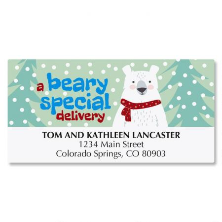 Beary Merry Christmas Deluxe Address Labels