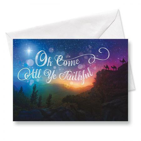 Night Star Religious Christmas Cards