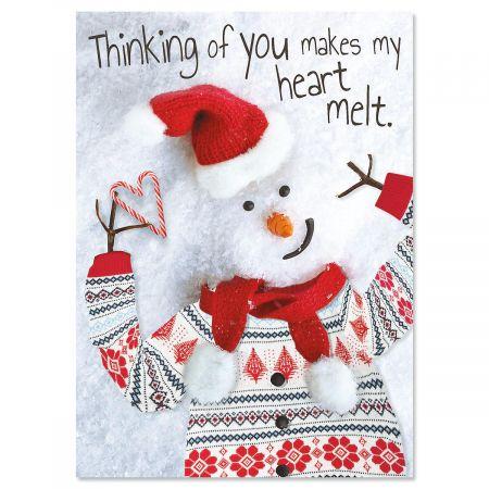 Modern Snowman Christmas Cards