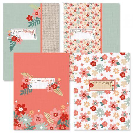 Floral Burlap Journals