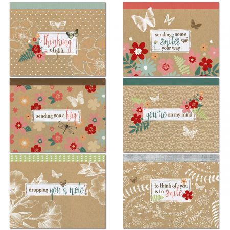 Thinking of You Kraft Note Cards Value Pack
