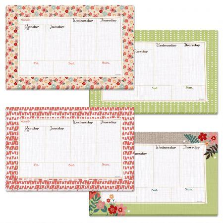 Weekly Calendar Pad