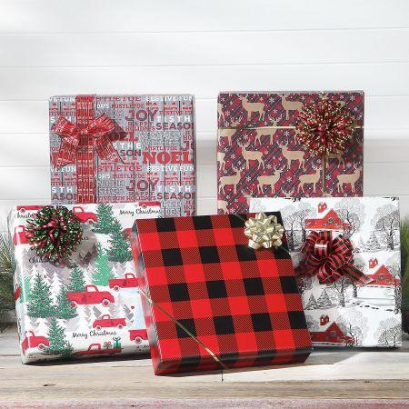 Buffalo Plaid Jumbo Rolled Gift Wrap