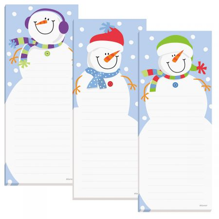 Snowman Shopping List Pads Whether you need to remind yourself to do something or keep a list of  honey-do's  this Christmas snowman smiles notepad is simplistic by design! 50-sheet pads come in 3 designs; 8  tall. Set of 3