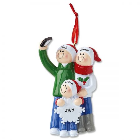 Selfie Designs Personalized Christmas Ornaments