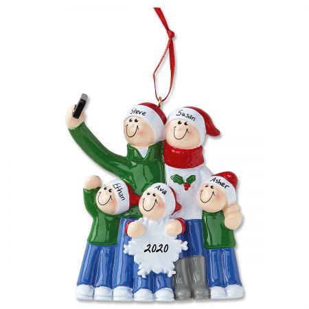 Selfie Designs Hand-Lettered Christmas Ornament