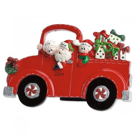 Red Truck and Santa Tabletop Easel