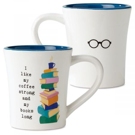 Books Long Book Club Mug