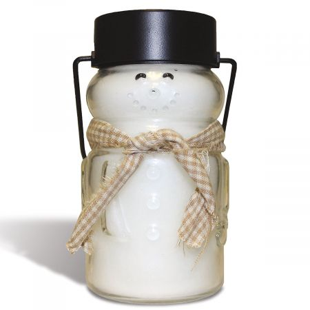 Scented Snowman Jar Candle - Tan