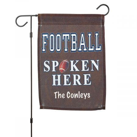 Personalized Football Garden Flag and Garden Flag Stand