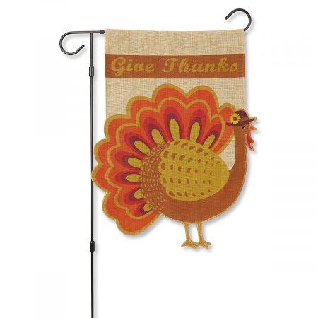 Turkey Garden Flag & Metal Flag Stand