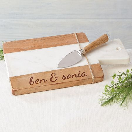 Personalized marble and wood engraved wood cutting board current catalog - Engraved wooden chopping boards ...