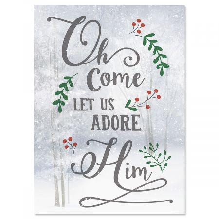 O Come Adore Nonpersonalized Christmas Cards