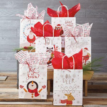 Kraft Christmas Gift Bags