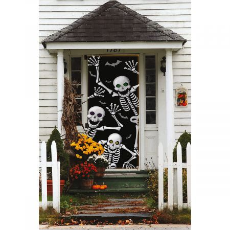 Skeletons Halloween Door Cover