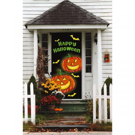 Jack-o'-Lanterns Halloween Door Cover