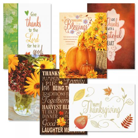 Fresh Look Thanksgiving Greeting Card Value Pack