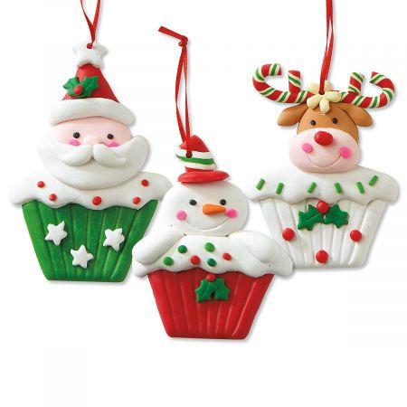 Cupcake Character Christmas Ornament
